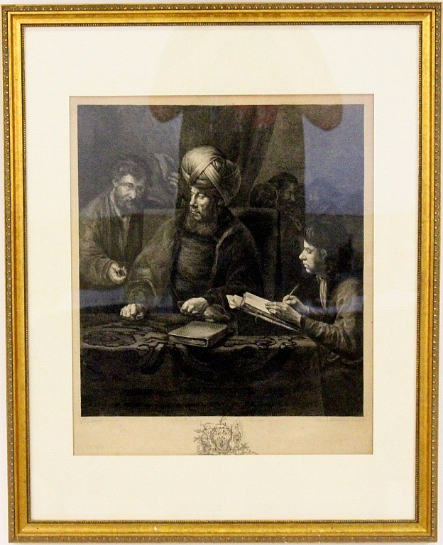 18th C. Engraving After Rembrandt Van Rijn