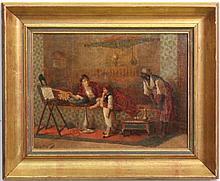 Jan Baptist Huysmans Figural Oil Painting, Signed