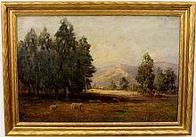 Getrude A. Brooks Landscape Oil on Canvas