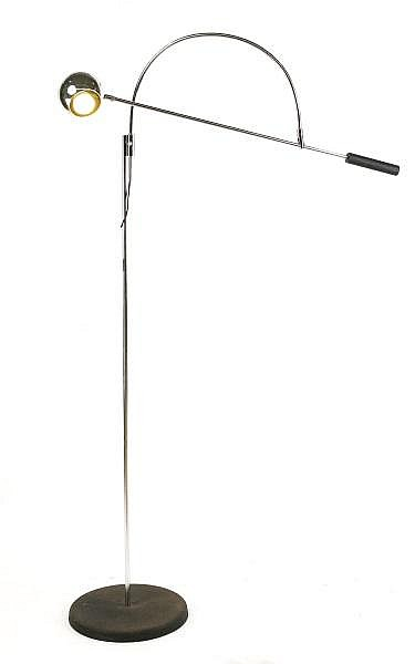 Robert Sonneman Orbiter Chrome Floor Lamp