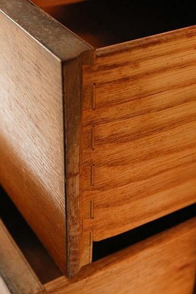 Drexel Profile Walnut Triple Dresser 8 Drawers