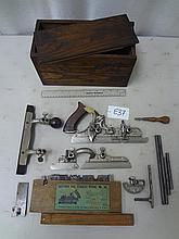 #45 Combination Plane in Original Box, Type 8: Complete Set, Includes Screwdriver (1907-1908)