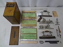 #55 Combination Plane in Original Metal Box: Complete w/ Adjustable Cam Stop, Screwdriver, & Instruction Booklet