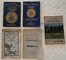 8 Booklets = How To Grow Grassfed for Profit P.B. booklet; 40 Pages; 6 x 9 The New Holland Handbook for Grassland Farmers 1951 = What size silo for my herd page 9. Septic Tanks For The Farm P.B. Booklet 6 x 9; 24 Pages; 1927. US Depart of Agr.