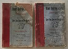 (2 Catalogs) Henry Disston and Sons Inc. (Keystone) Saw, Tool, Steel, and File Works, Philadelphia PA HC; 6 ¾ x 10 ¼ ; 130 Pages; January 1896 and July 1897 price list = 2 man saw's Page 31 = Saw filing guide page 56 = Saw set page 57 = Wood saw