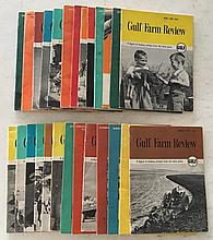 Gulf Farm Review Series 26 issues; 1954 to 1960; P.B. 5 ½ x 7 ½. A lot of good farming stories sponsored by Gulf.
