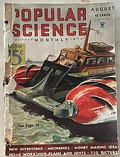Popular Science 1936 P.B.; 8 ½ x 11 = Hunting Whales with Speedboats = Tricks in camping-out = The Mud House comes back = Battlelike Rail Car 1937 =