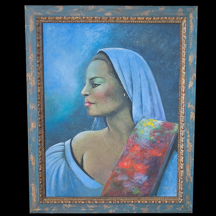 Jean Claude Legagneur (Haitian 1947-) Oil Painting