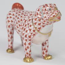 Herend Porcelain First Edition Fishnet Pug