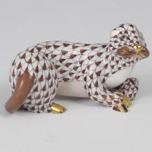Herend Porcelain Fishnet Sea Otter