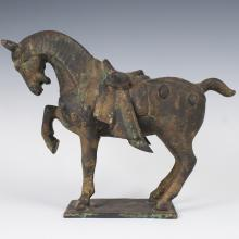 Japanese Cast Iron Horse Sculpture