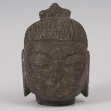 Antique Nepalese Bronze Buddha Bust