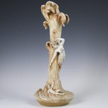 Antique German Porcelain Art Nouveau Vase
