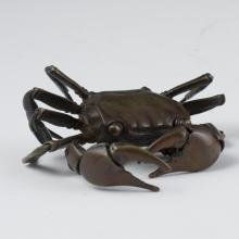 Antique Japanese Bronze Articulated Crab