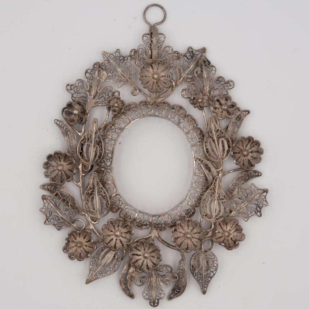Vintage Sterling Silver Filigree Frame