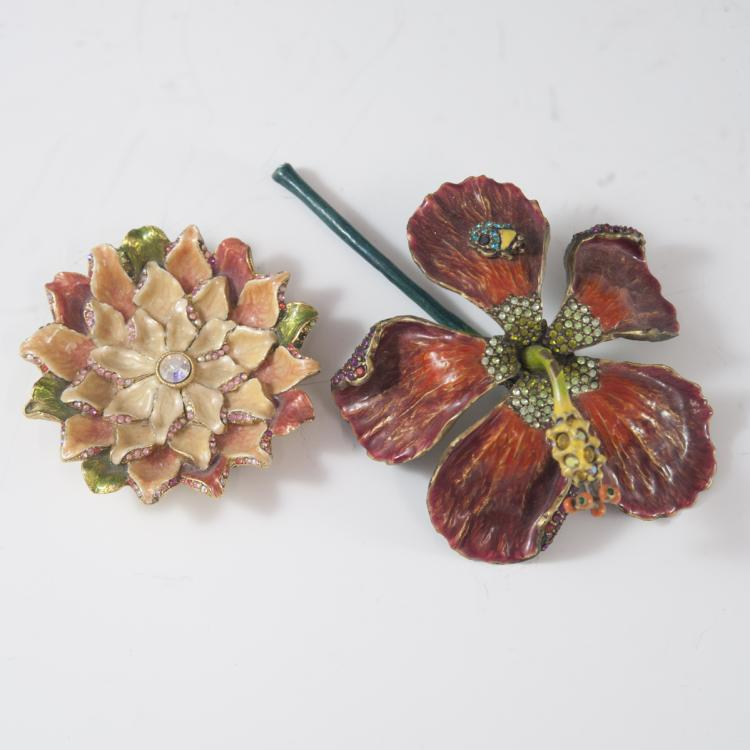 Jay Strongwater Floral Paperweights