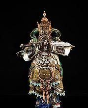Antique Procelain Chinese Warrior
