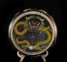 Antique Emperial Chinese Cloisonne Enameled Bowl