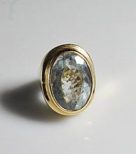Vintage 14k Gold & Smokey Topaz Ring