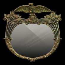 Antique Federal Style Gilt Wooden Mirror