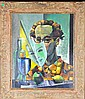 Francis Revesz Ferryman Oil On Board Painting, Francis Revesz Ferryman, Click for value