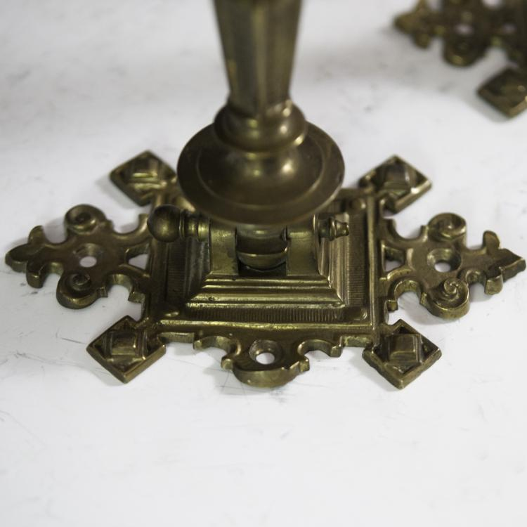 Antique Gothic Style Brass Sconces