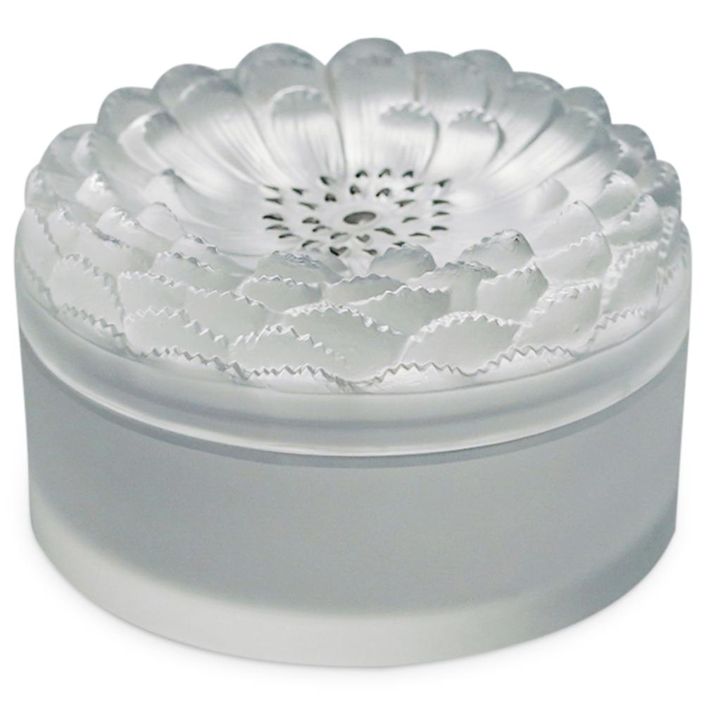 "Lalique ""Dahlia"" Crystal Powder Box"