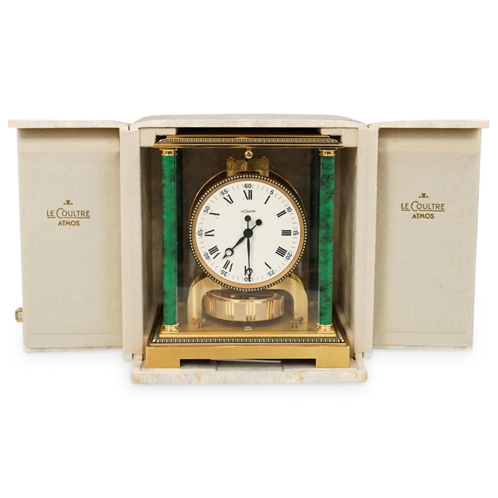 LeCoultre Atmos Malachite Mantle Clock