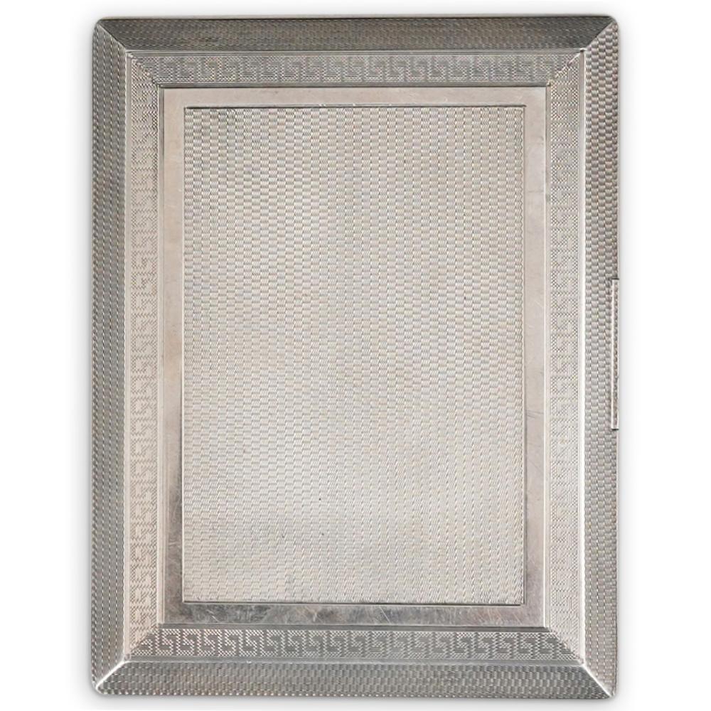 English Sterling Silver Cigarette Case w/ Gold Interior
