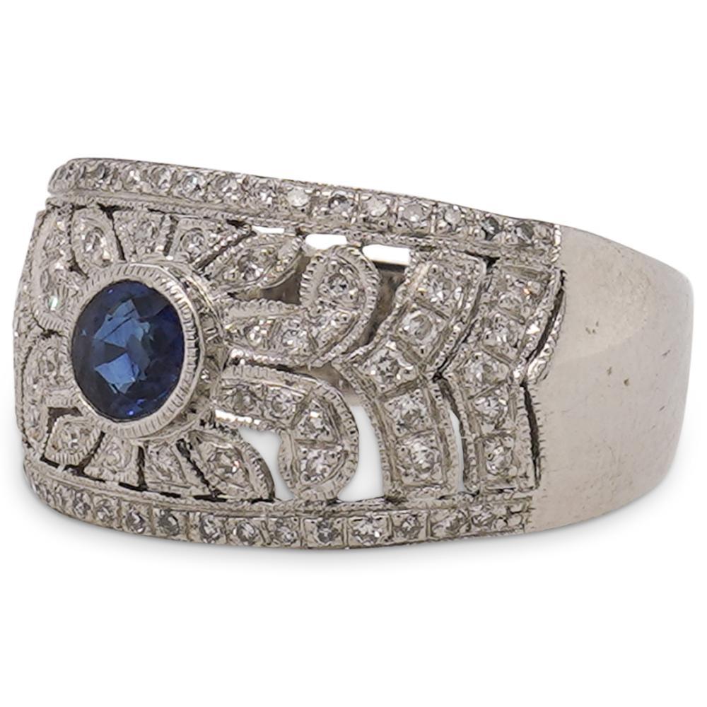 Levian 18k Sapphire and Diamond Ring