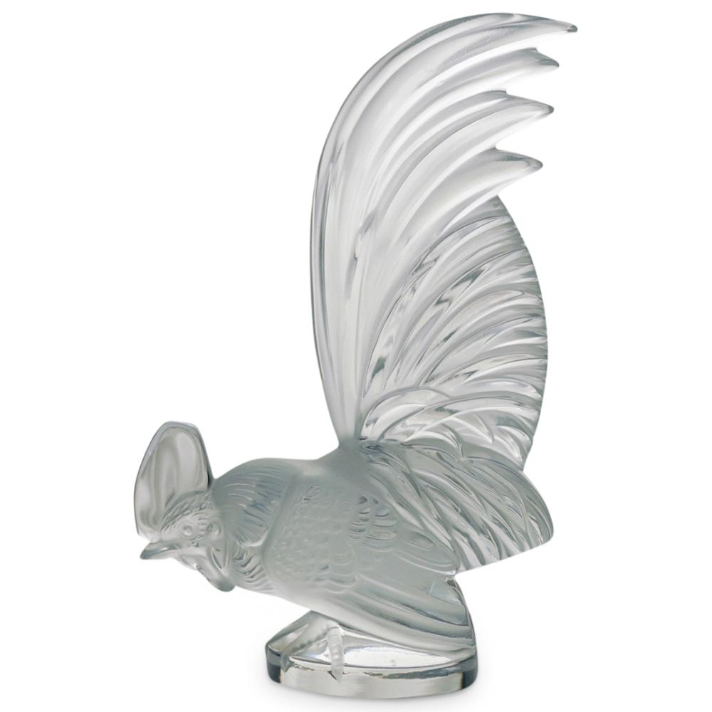 """Lalique """"Rooster"""" Paperweight"""