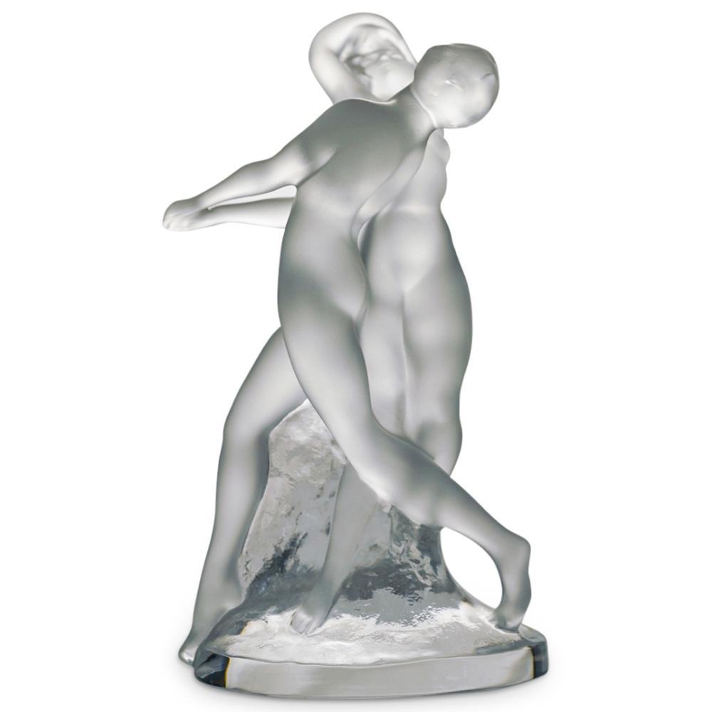 """Lalique """"Deux Danseuses"""" Crystal Sculpture"""