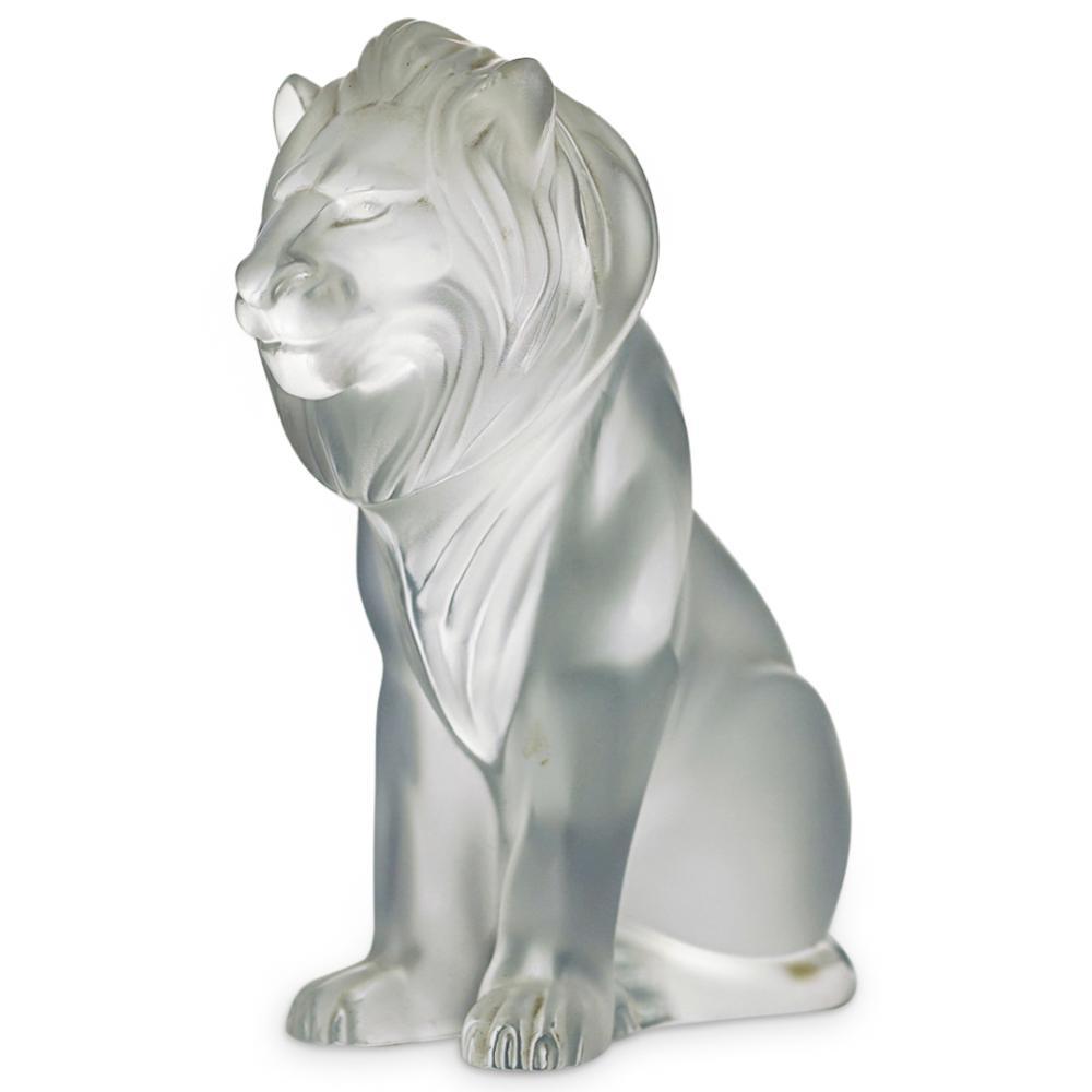 "Lalique ""Bamara"" Lion Statue"