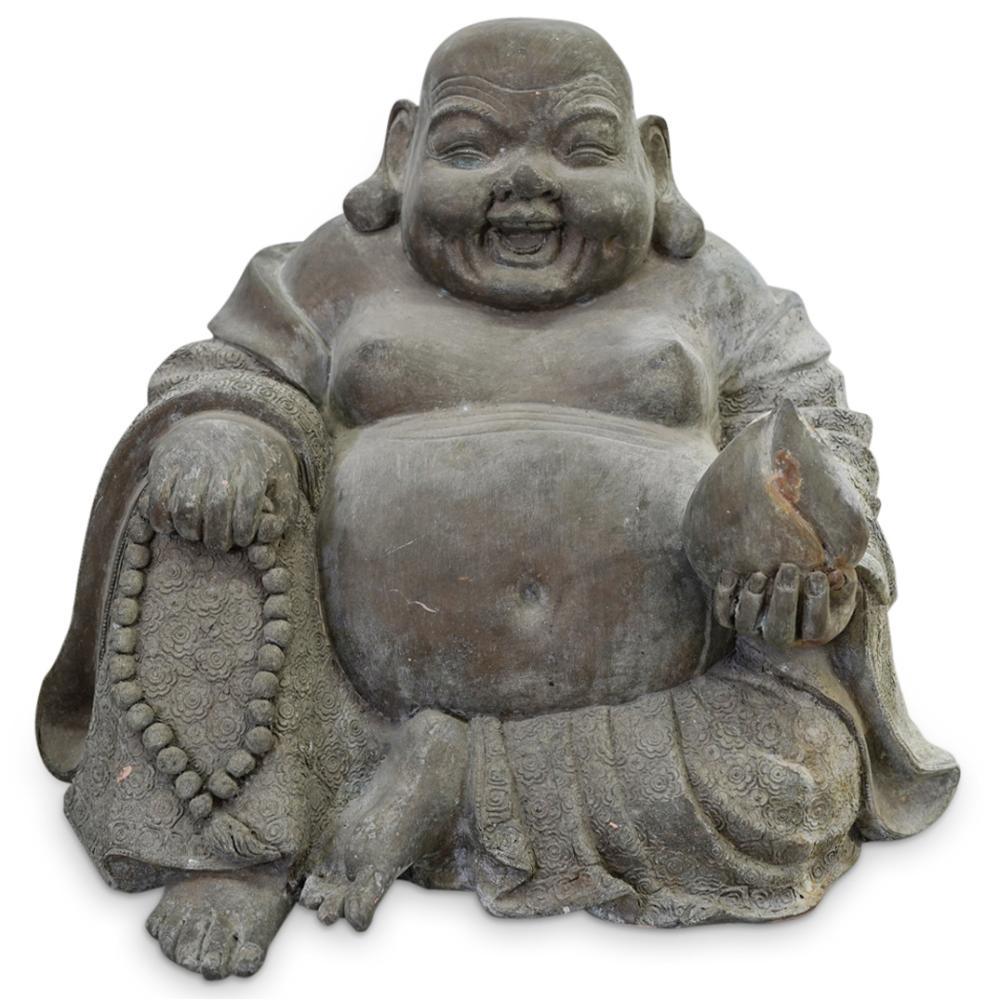 Cast Metal Garden Buddha