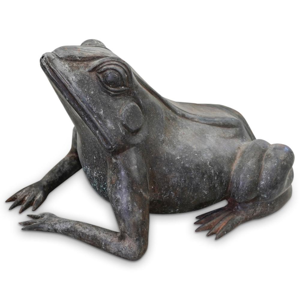 Vintage Cast Metal Frog Fountain