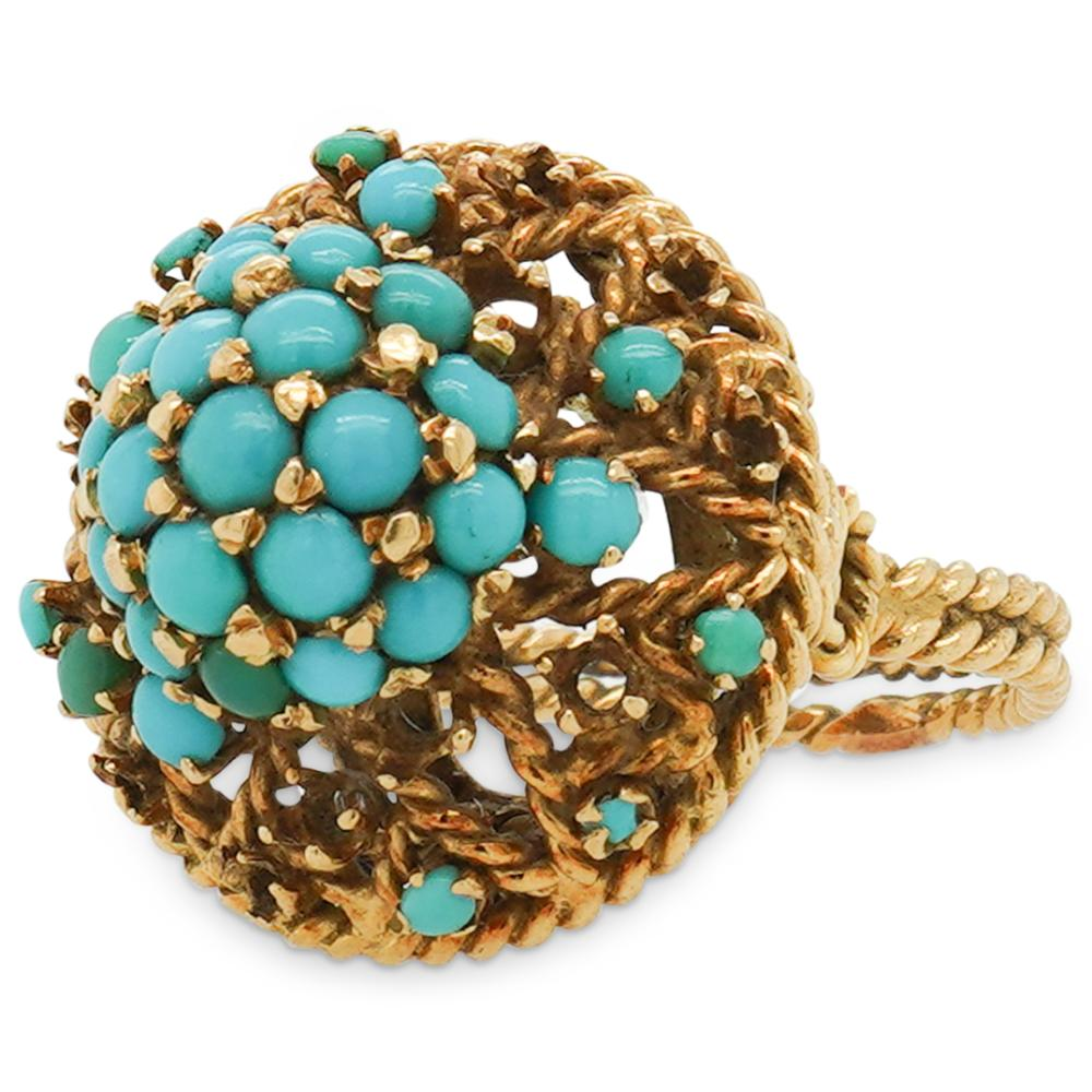 18k Yellow Gold & Turquoise Ring