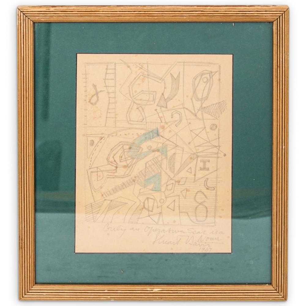 Stuart Davis (American, 1892-1964) Graphite on Paper
