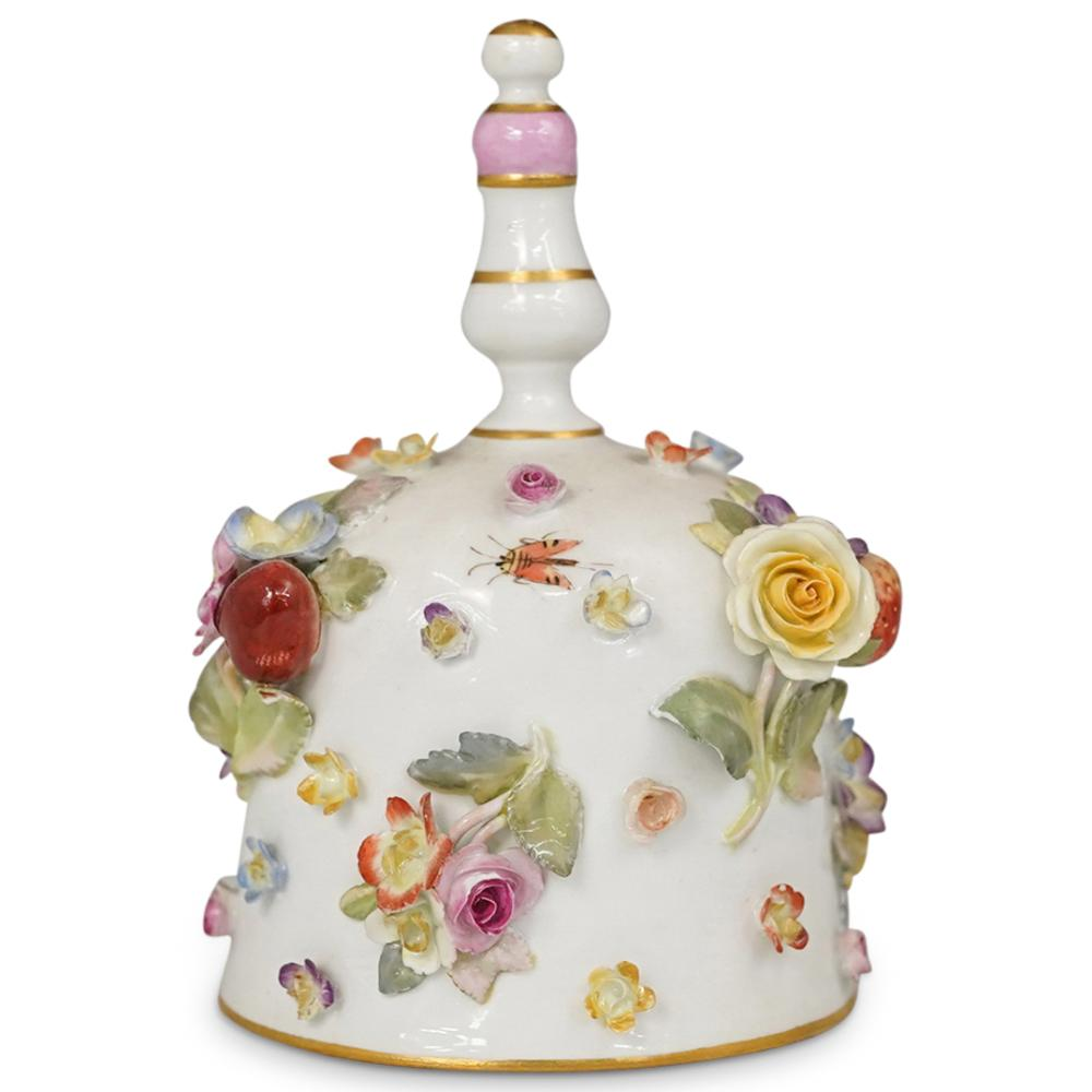 Antique Meissen Porcelain Dinner Bell