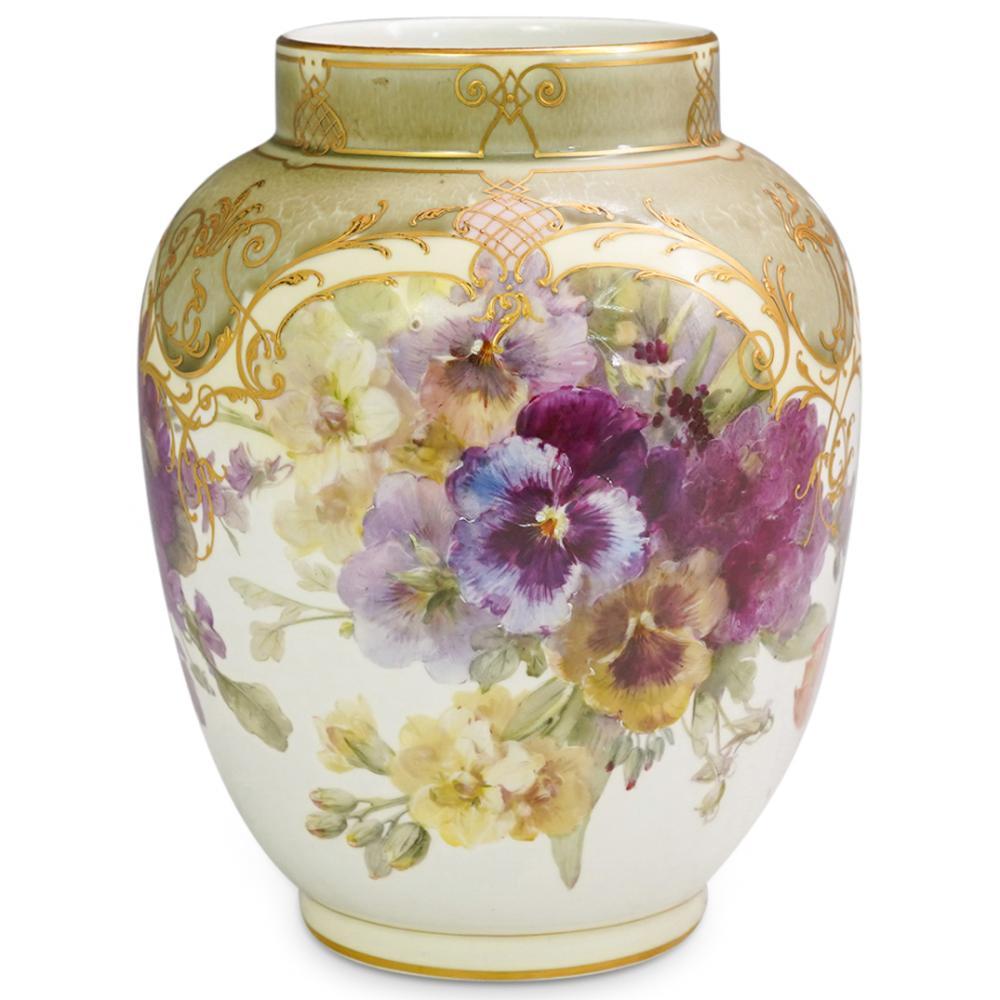 KPM Porcelain Floral Vase