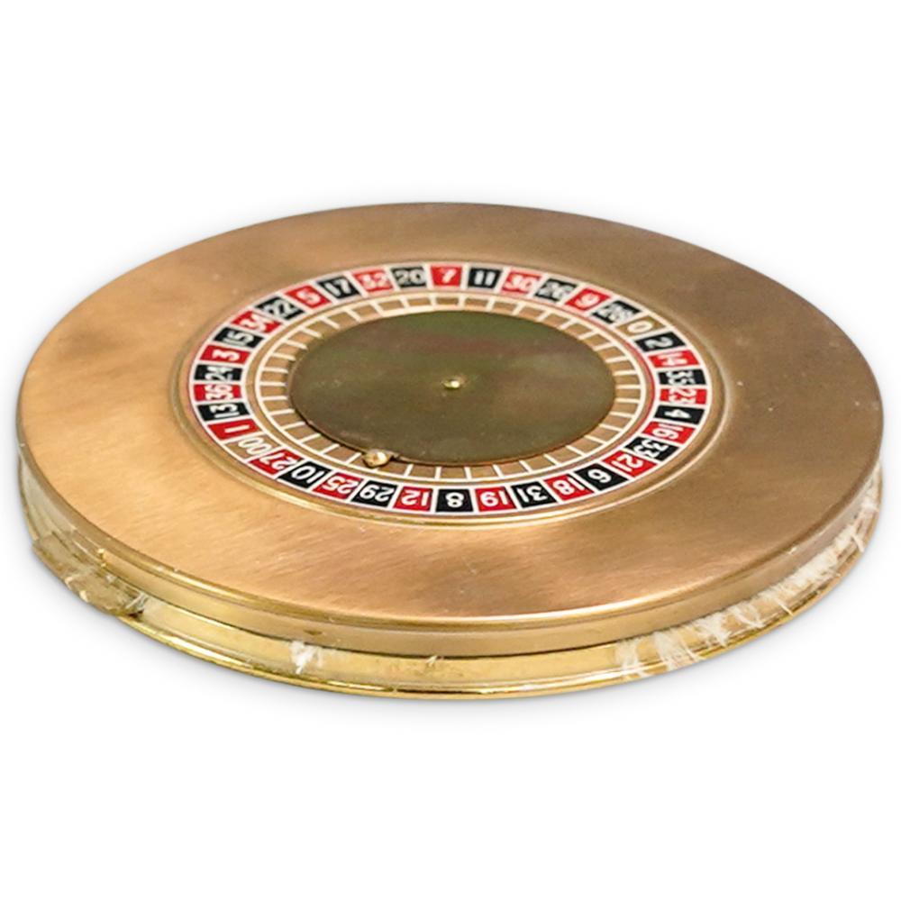 Vintage Roulette Wheel Compact Case