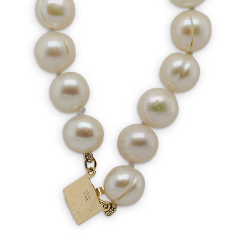 14k Gold and Beaded Pearl Necklace