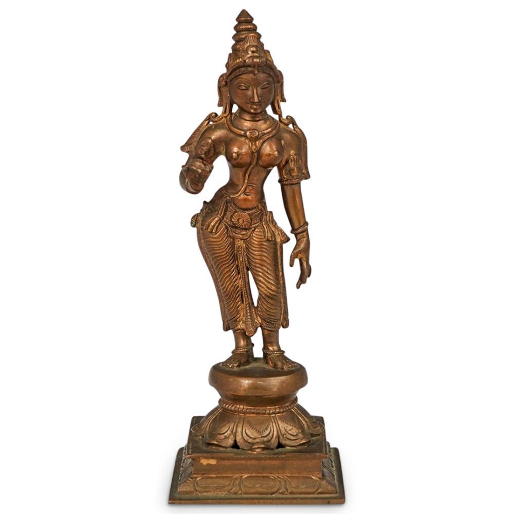 Antique Vishnu Bronze Sculpture