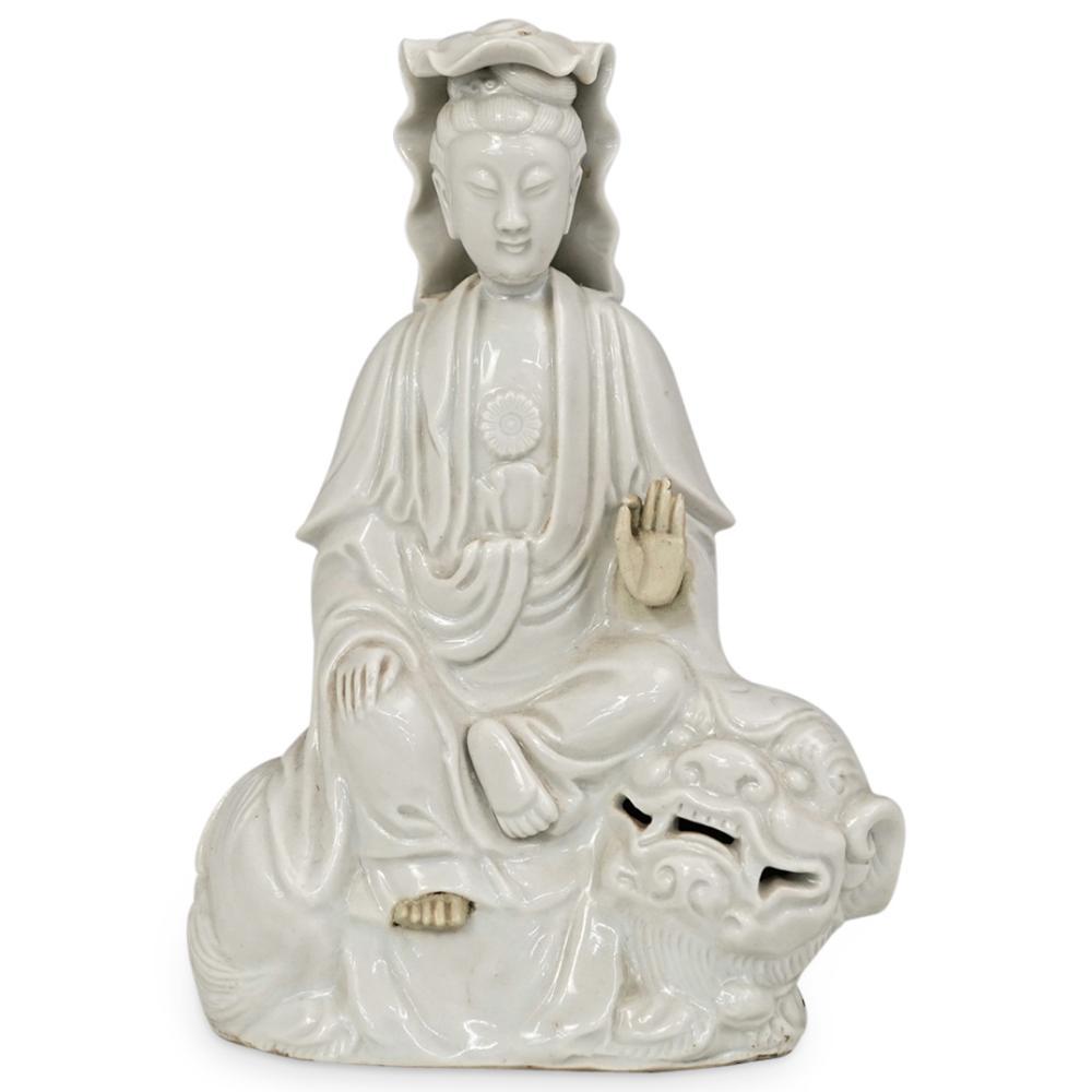 Chinese Chine De Blanc Porcelain Guan Yin