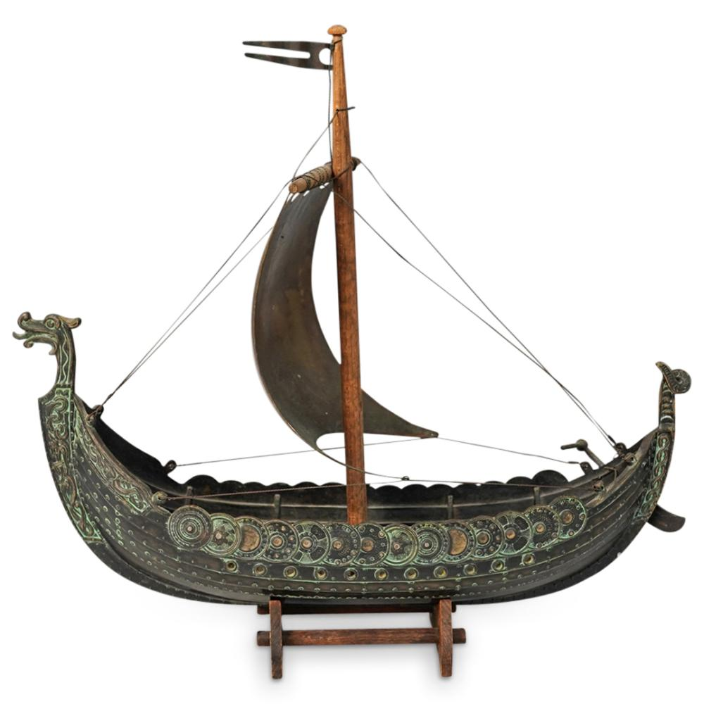Edward Aagaard Danish Viking Ship Sculpture