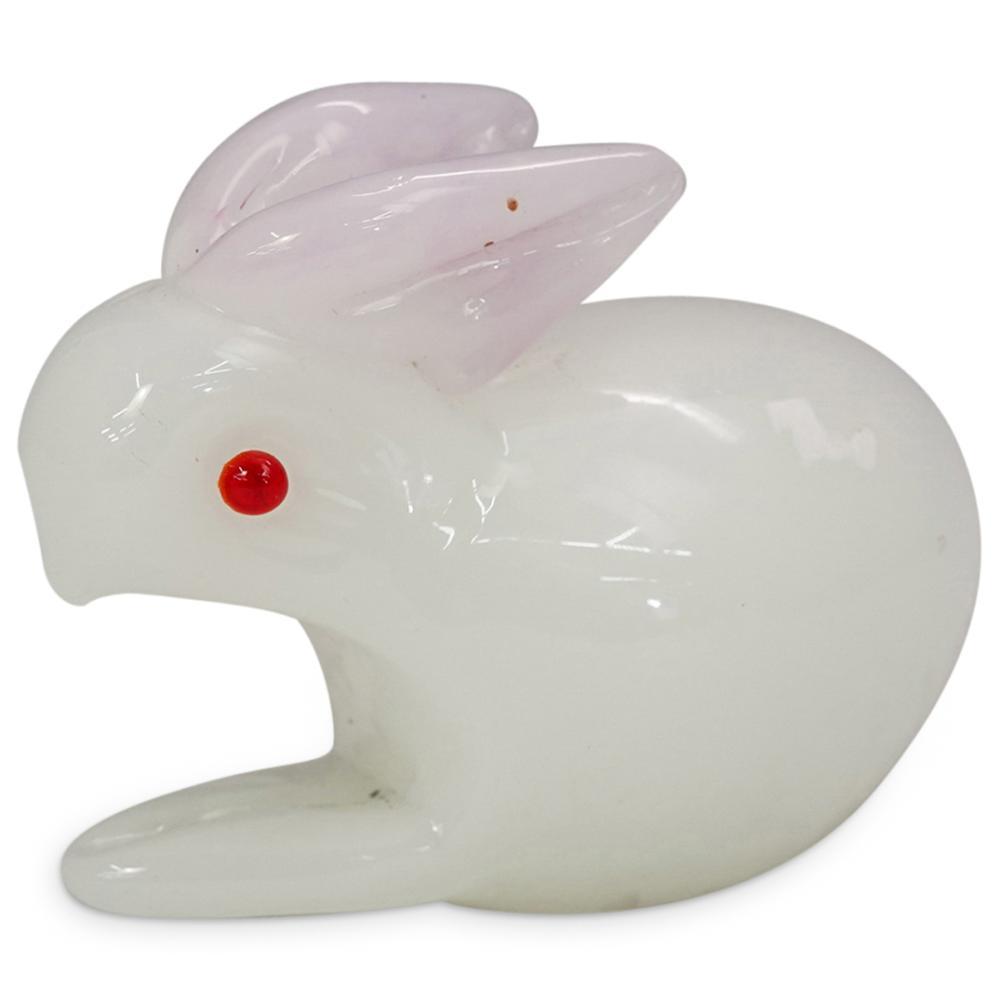 (3 Pc) Murano Art Glass Rabbit Figurines