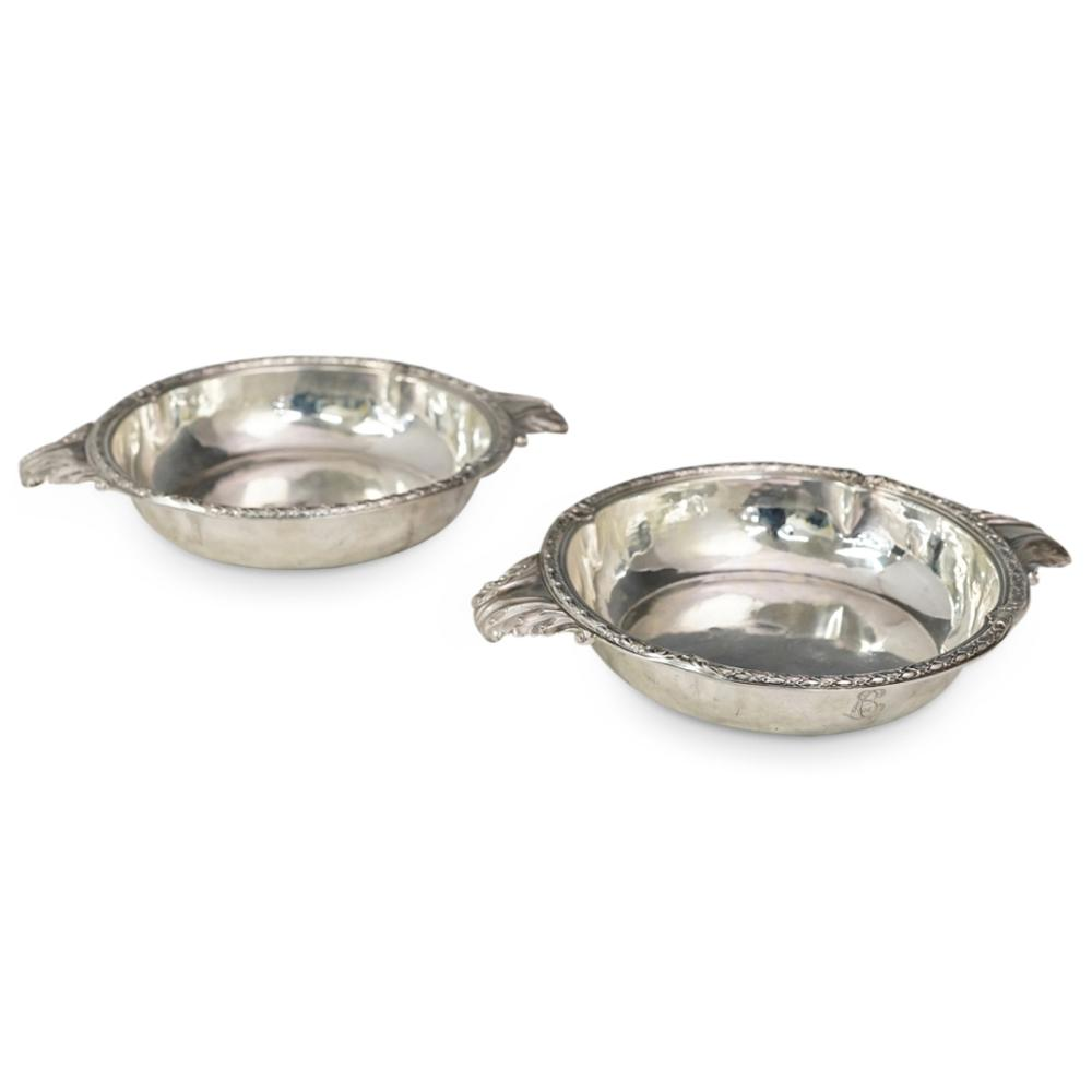 (2 Pc) Tetard Freres Silver Serving Bowls