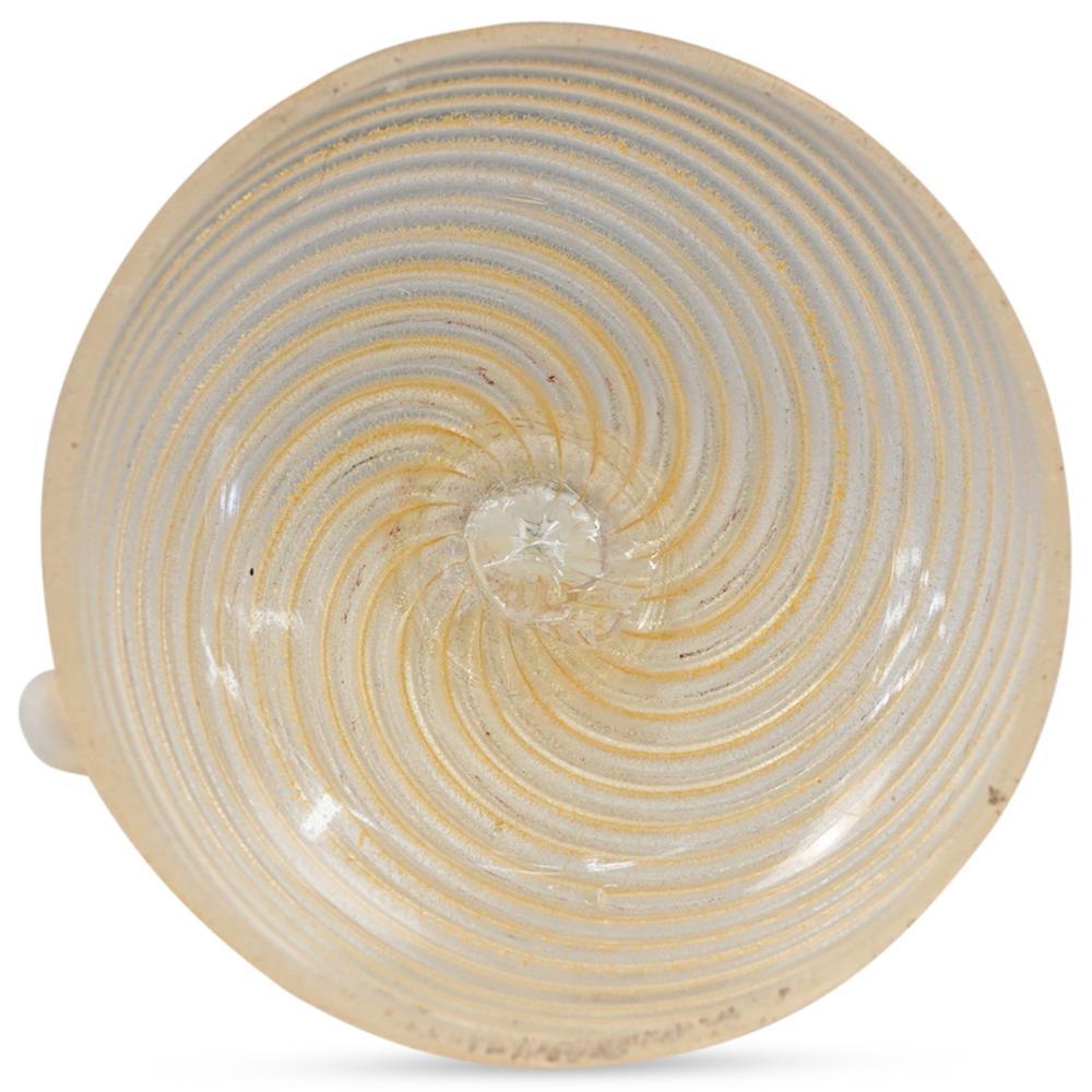 (2 Pc) Murano Glass White & Gold Venetian Figurines