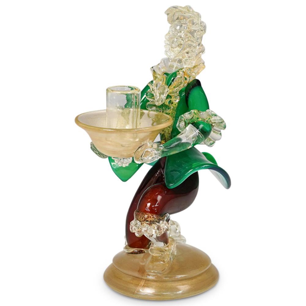 Murano Glass Candle Holder Figurine