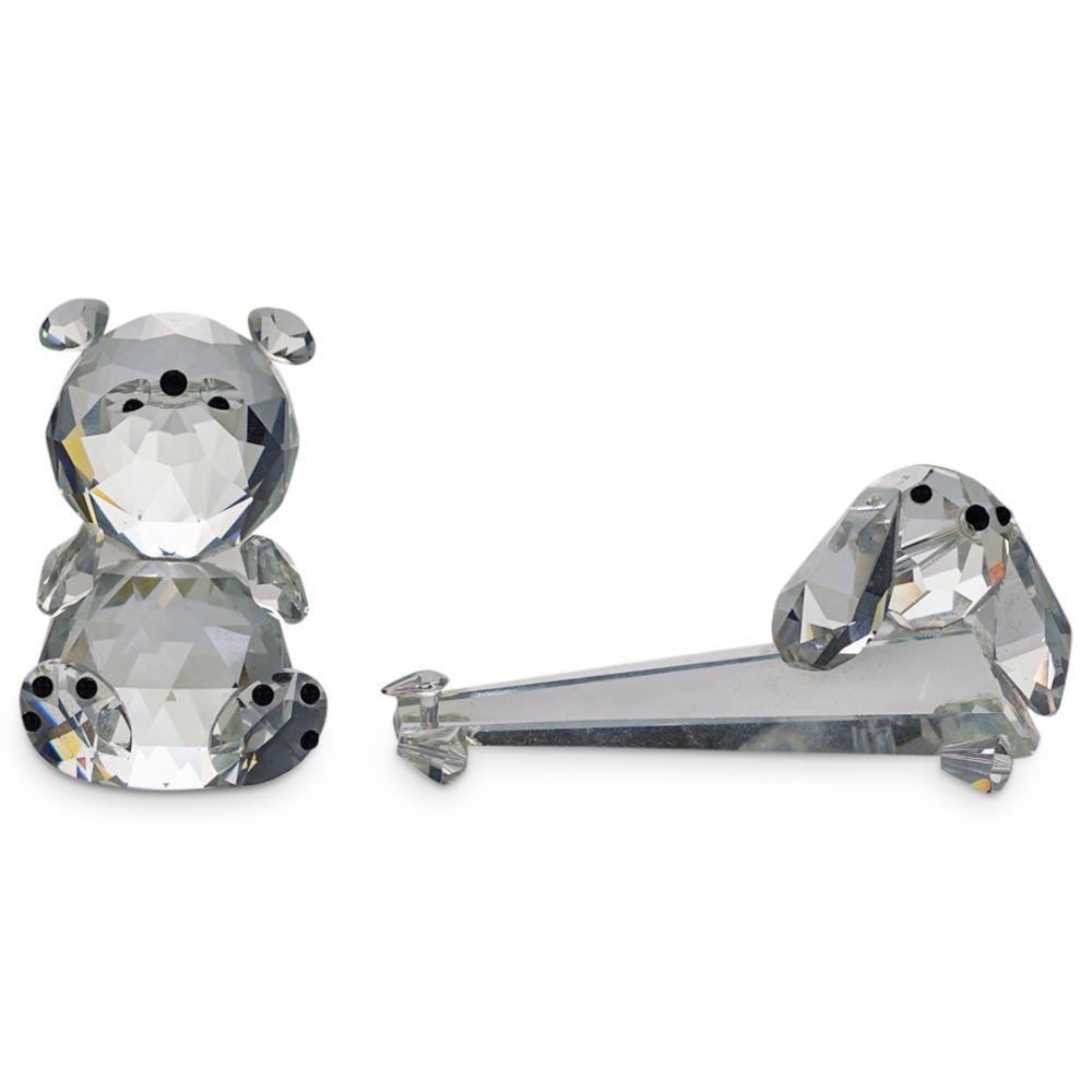 (8 Pc) Swarovski Style Crystal Animal Figurines