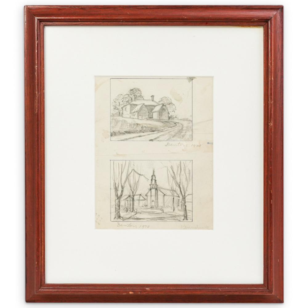 Thomas Hart Benton (American 1889-1975) Graphite on Paper